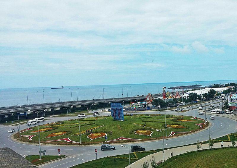 Trabzon Junction Horon Sea Ship Funfair Amusementpark Turkey Open Edit City View