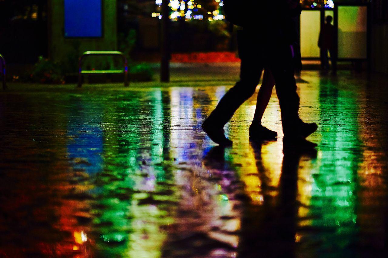 Beautiful stock photos of legs, Human Leg, Illuminated, Light Effect, Low Section