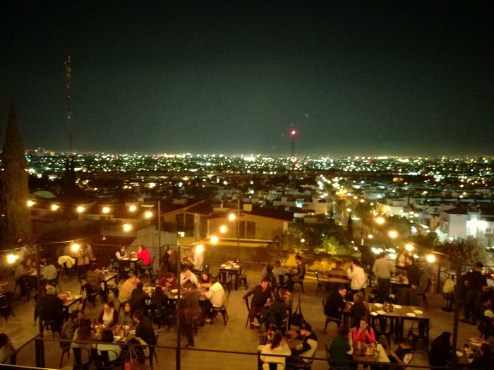 Night Illuminated City Building Exterior Sky Outdoors Real People Nature Moon Relax Food And Drink La Condenada People Adult Guadalajara, Mexico