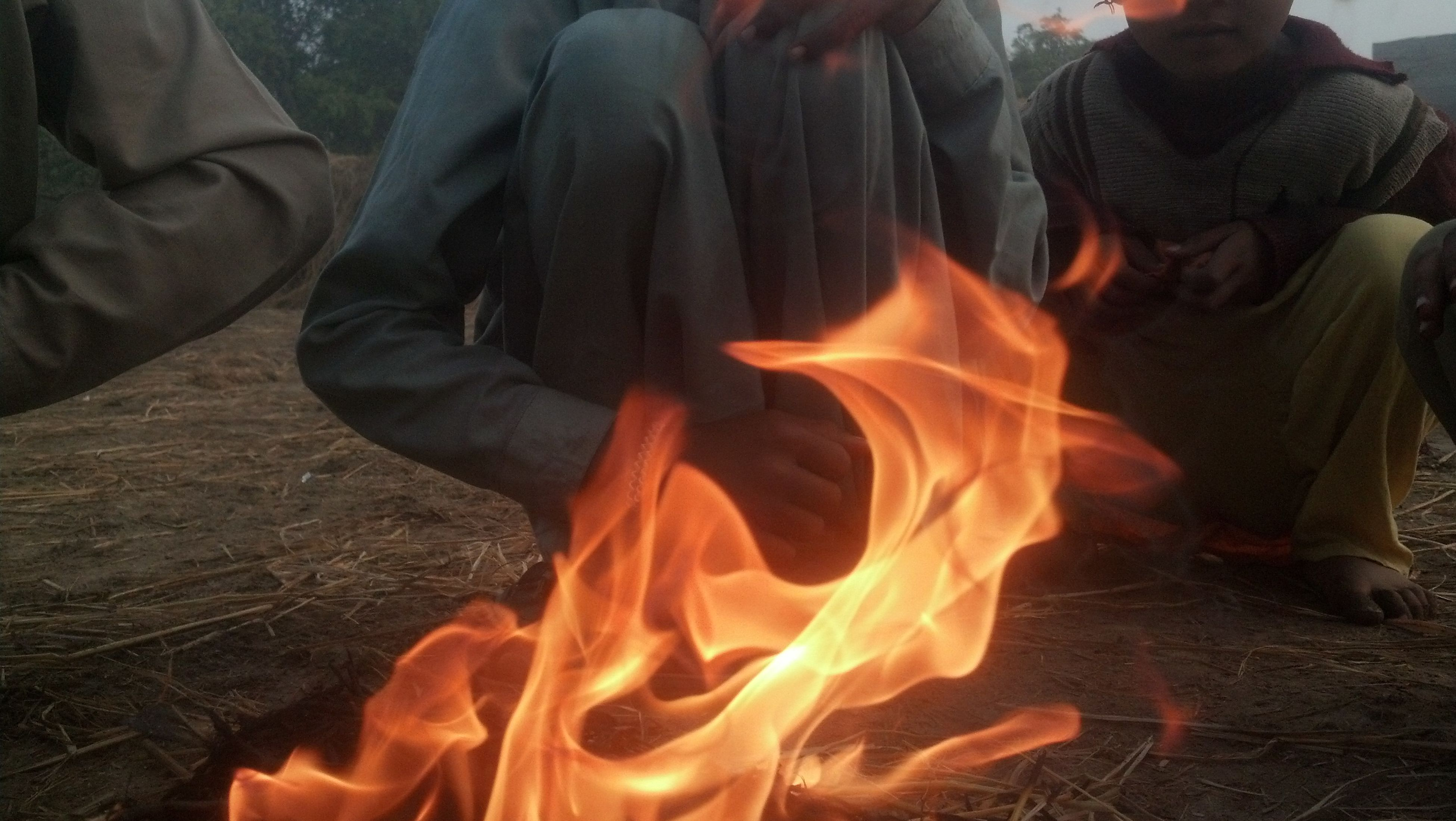 heat - temperature, flame, burning, smoke - physical structure, close-up, no people, outdoors, day