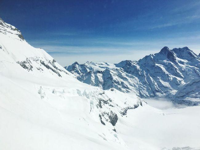 Top of Europa Jungfraujoch Schwitzerland Suisse  Snow White Mountains Top Of Europe