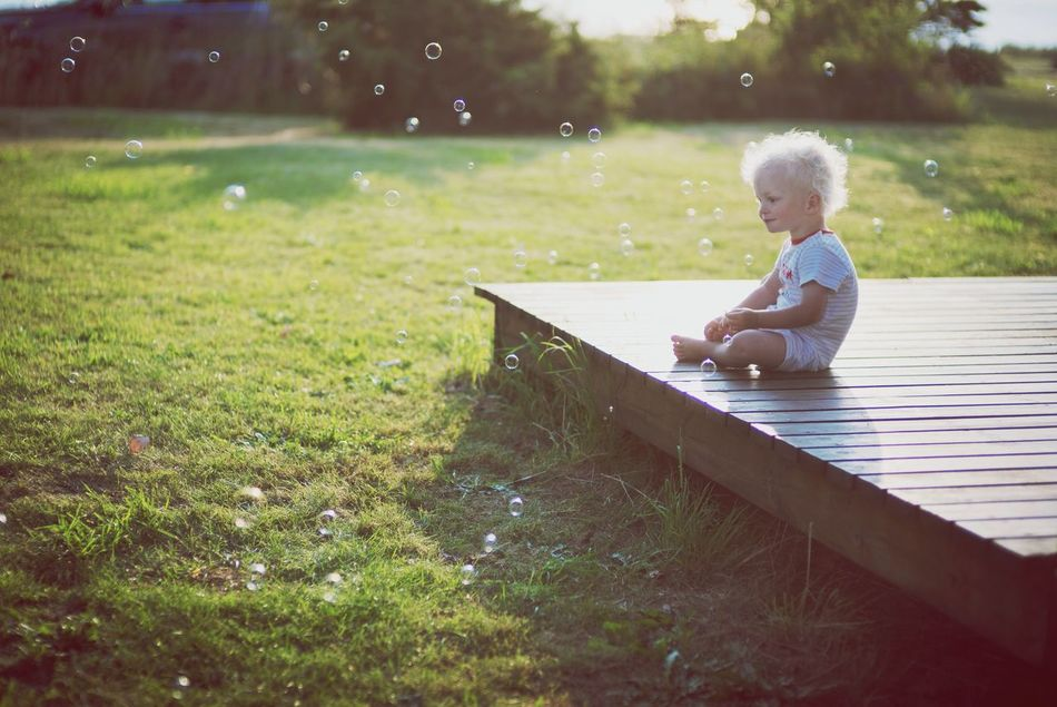 Beautiful stock photos of bubbles, Baby Clothing, Babyhood, Barefoot, Blonde Hair