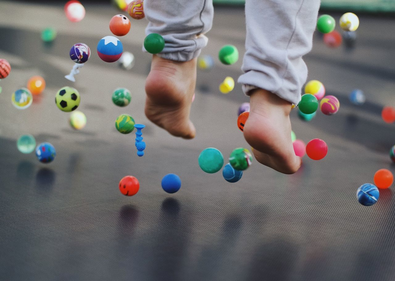 Zero gravity... Multi Colored Ball Leisure Activity Playing Fun Low Section Sport Pool Ball Childhood Children Kids Being Kids Kids Playing Kids Having Fun Fun Details Of My Life VSCO My Favorite Photo The Street Photographer - 2017 EyeEm Awards Jumping Colorful Family Family Fun Playtime Playground Trampoline Live For The Story Place Of Heart Sommergefühle