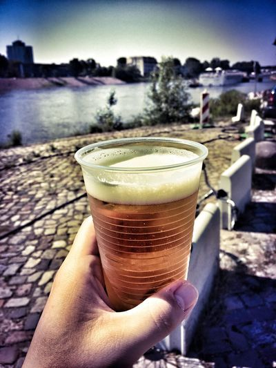 Magdeburg Beer Drinking Glass River View