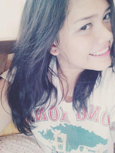 Smile :) Smile Selfie Selca Korean Make Up Hi! Me Cute Annyeong Etudehouse Feeling Good