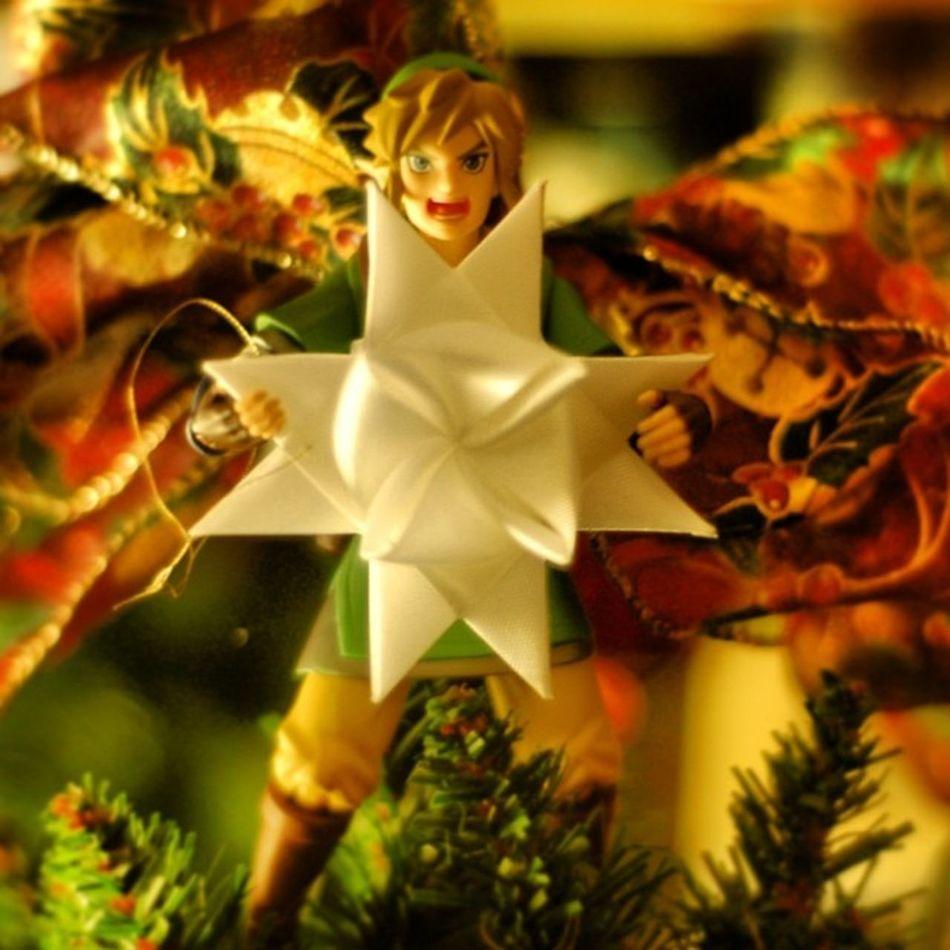 Like my tree topper? BecauseitsNintendo Zelda Loz LegendOfZelda  link figmalink BecauseitsZelda
