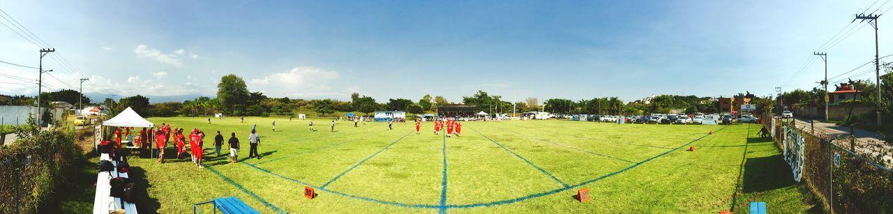 Field American Football Sky Panoramic Photography