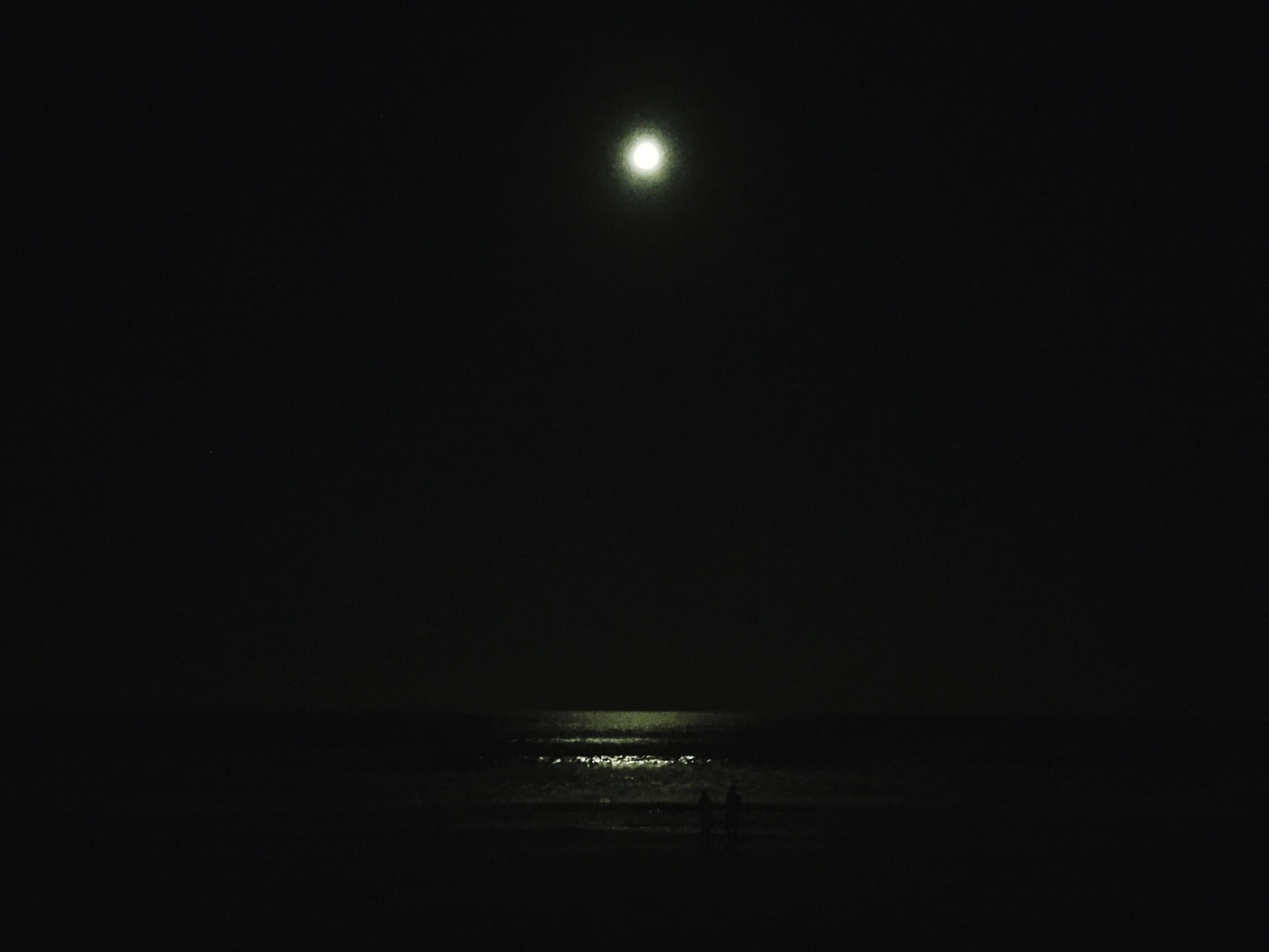 night, sea, moon, water, copy space, tranquil scene, tranquility, scenics, illuminated, horizon over water, beauty in nature, clear sky, sky, nature, silhouette, dark, idyllic, waterfront, dusk, outdoors