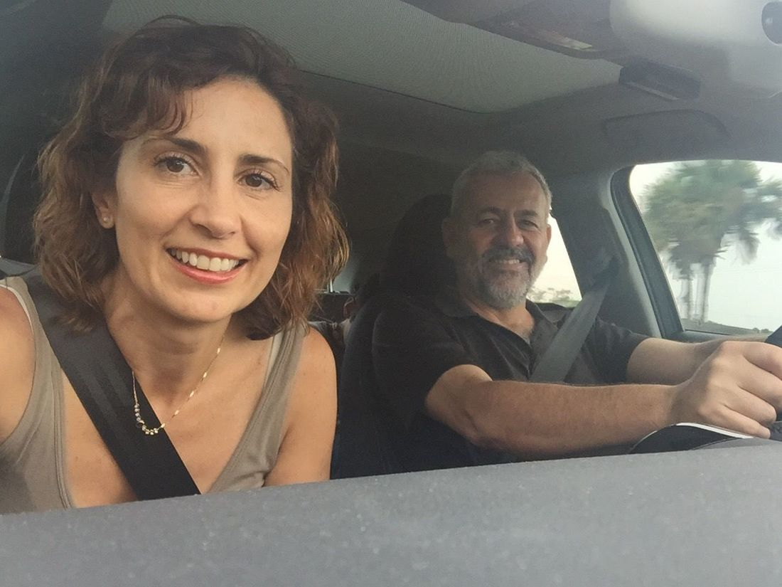 The Journey Is The Destination Car Traveling Roadtrip Couple Self Portrait