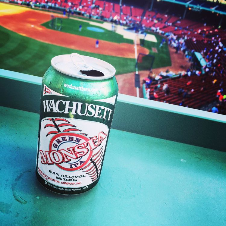 Greenmonster Boston Redsox Beer Summer Baseball