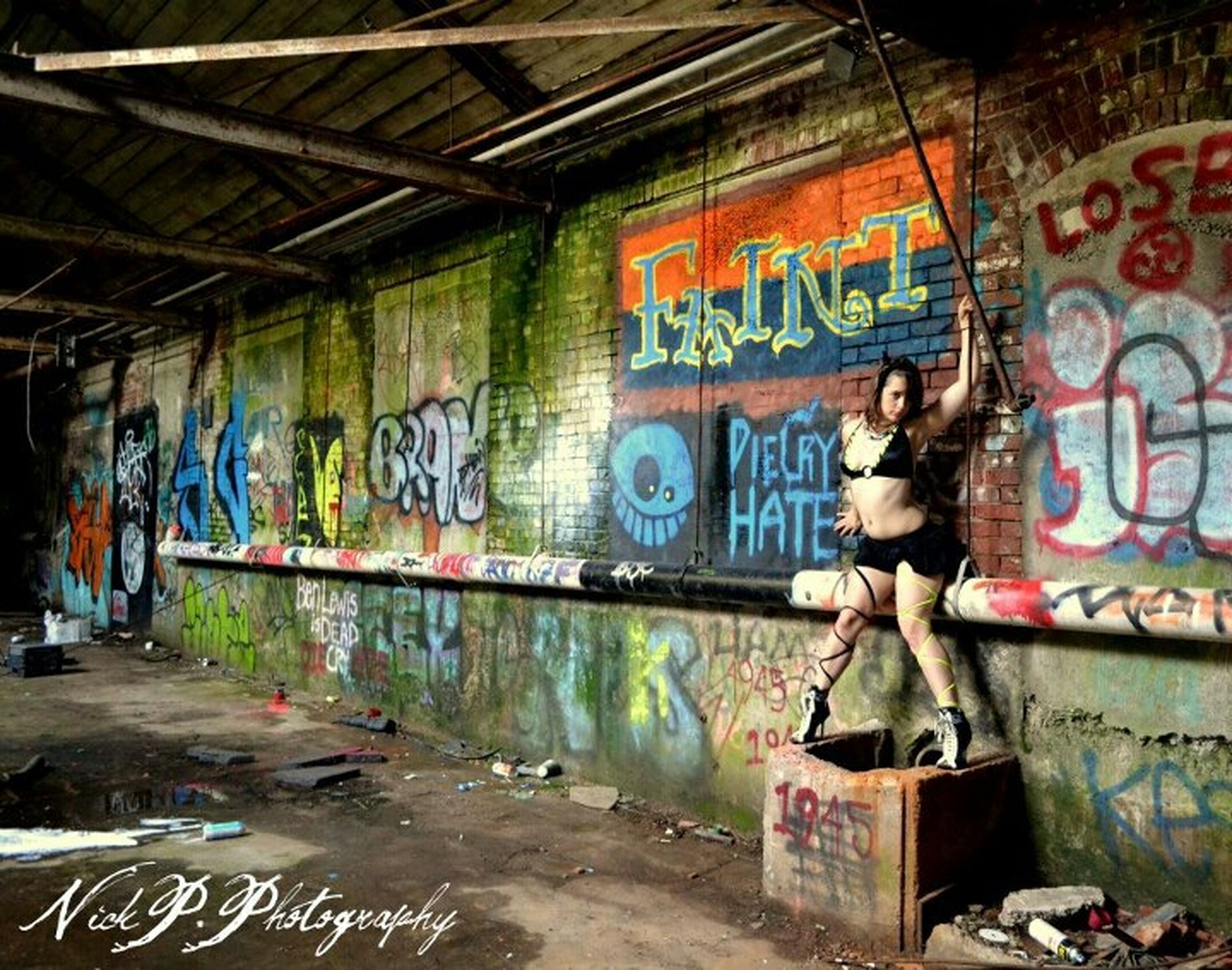 graffiti, art, art and craft, creativity, abandoned, messy, deterioration, damaged, indoors, wall - building feature, obsolete, run-down, built structure, vandalism, architecture, human representation, street art, text, multi colored, old