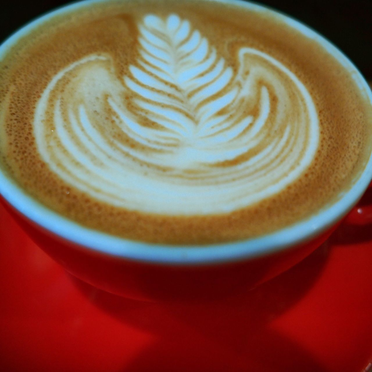 Liquid Lunch Coffee Coffee Time Flatwhite Flatwhitecoffee Latteart Latte Art Red Cup Happy