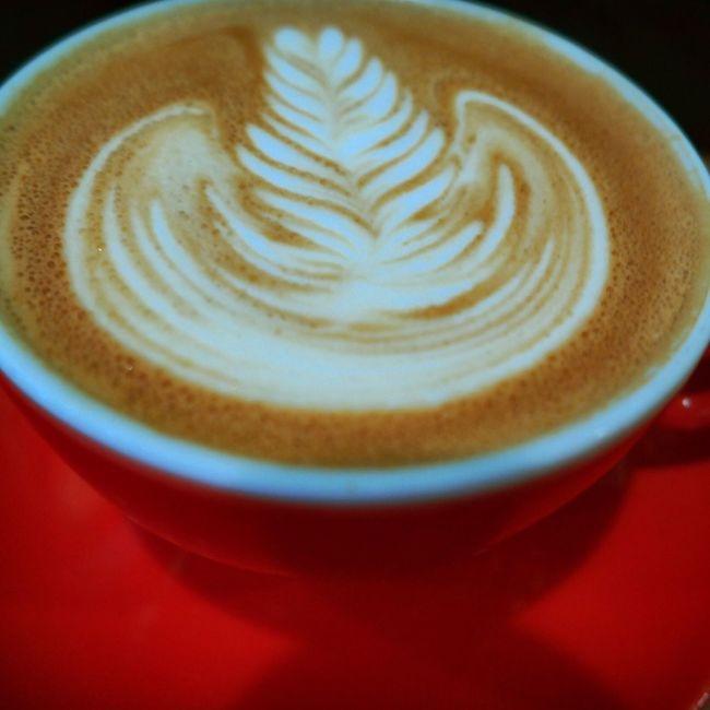 Liquid Lunch Coffee Coffee Time Flatwhite Flatwhitecoffee Latteart Latte Art Red Cup Happy