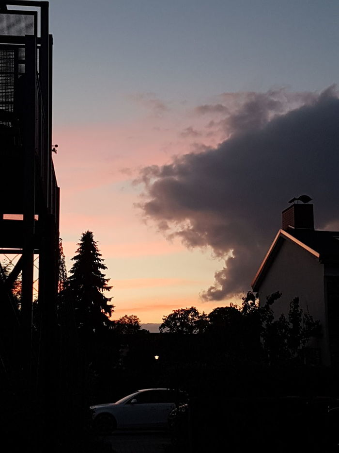 Silhouette Sunset Outdoors No People Sky Summer In The City Stendal