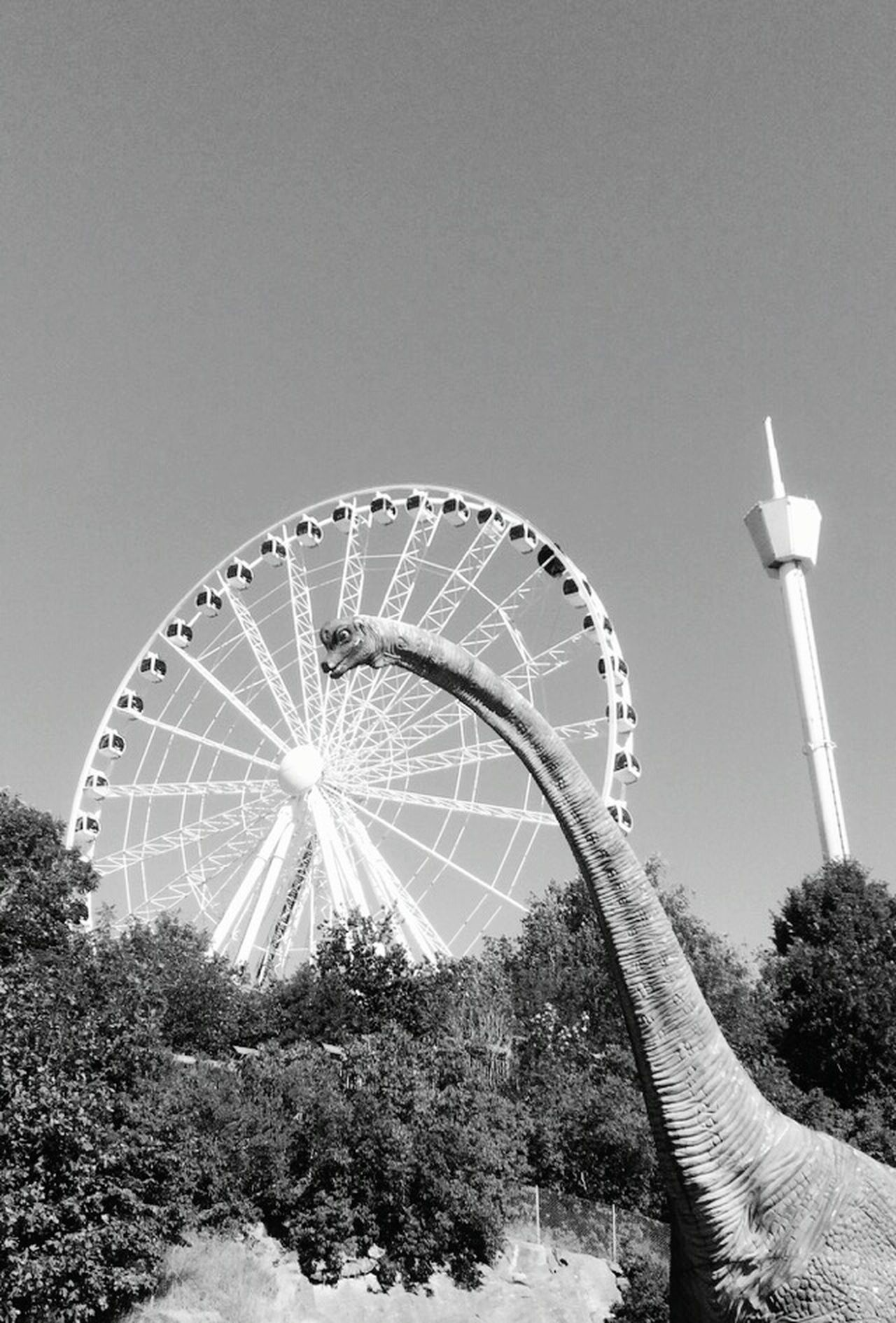 Liseberg Gothenburg Gothenburg_photographer_ Gothenburg_bw Blackandwhite Photography Childhood Sweden Urban Landscape Happiness Black & White Dinosaur Tivoli Amusementpark Eyemphotography EyeEm Best Shots The Essence Of Summer Buildings & Sky Uraban The Architect - 2016 EyeEm Awards Feel The Journey Adapted To The City