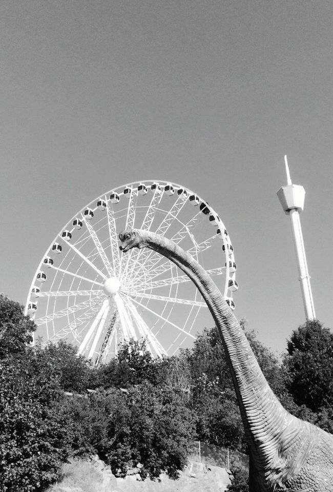 Liseberg Gothenburg Gothenburg_photographer_ Gothenburg_bw Blackandwhite Photography Childhood Sweden Urban Landscape Happiness Black & White Dinosaur Tivoli Amusementpark Eyemphotography EyeEm Best Shots The Essence Of Summer Buildings & Sky Uraban The Architect - 2016 EyeEm Awards Feel The Journey