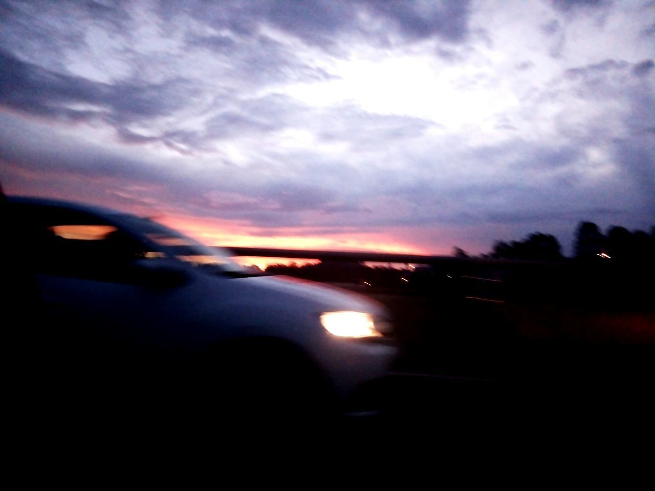 car, transportation, land vehicle, sunset, sky, mode of transport, road, silhouette, cloud - sky, nature, no people, scenics, outdoors, beauty in nature, day