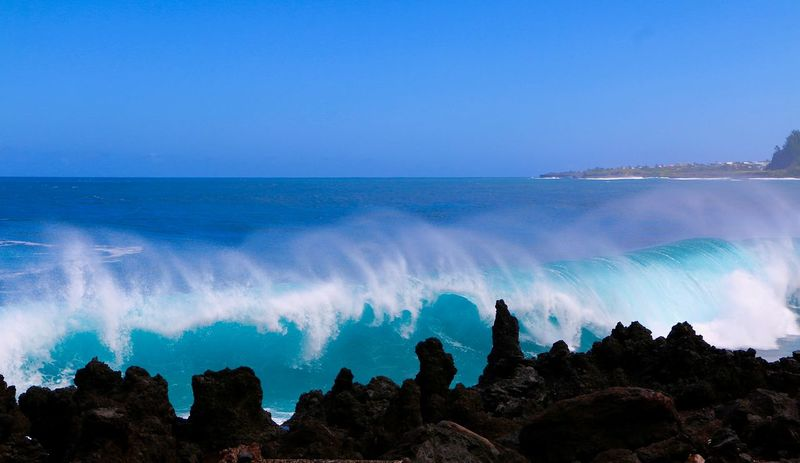 The Week on EyeEm Reunion Island Beach Beauty In Nature Blue Clear Sky Day Horizon Over Water Lava Motion Nature No People Outdoors Scenics Sea Sky Tranquil Scene Tranquility Water Wave EyeEmNewHere
