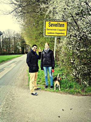 on the road at Sevelten by Gaurav
