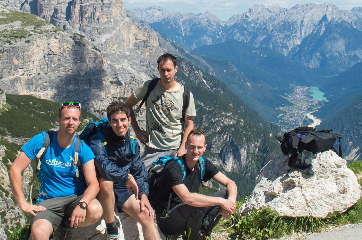 People Together Drei Zinnen Summer 2016 Mountain Dolomites, Italy