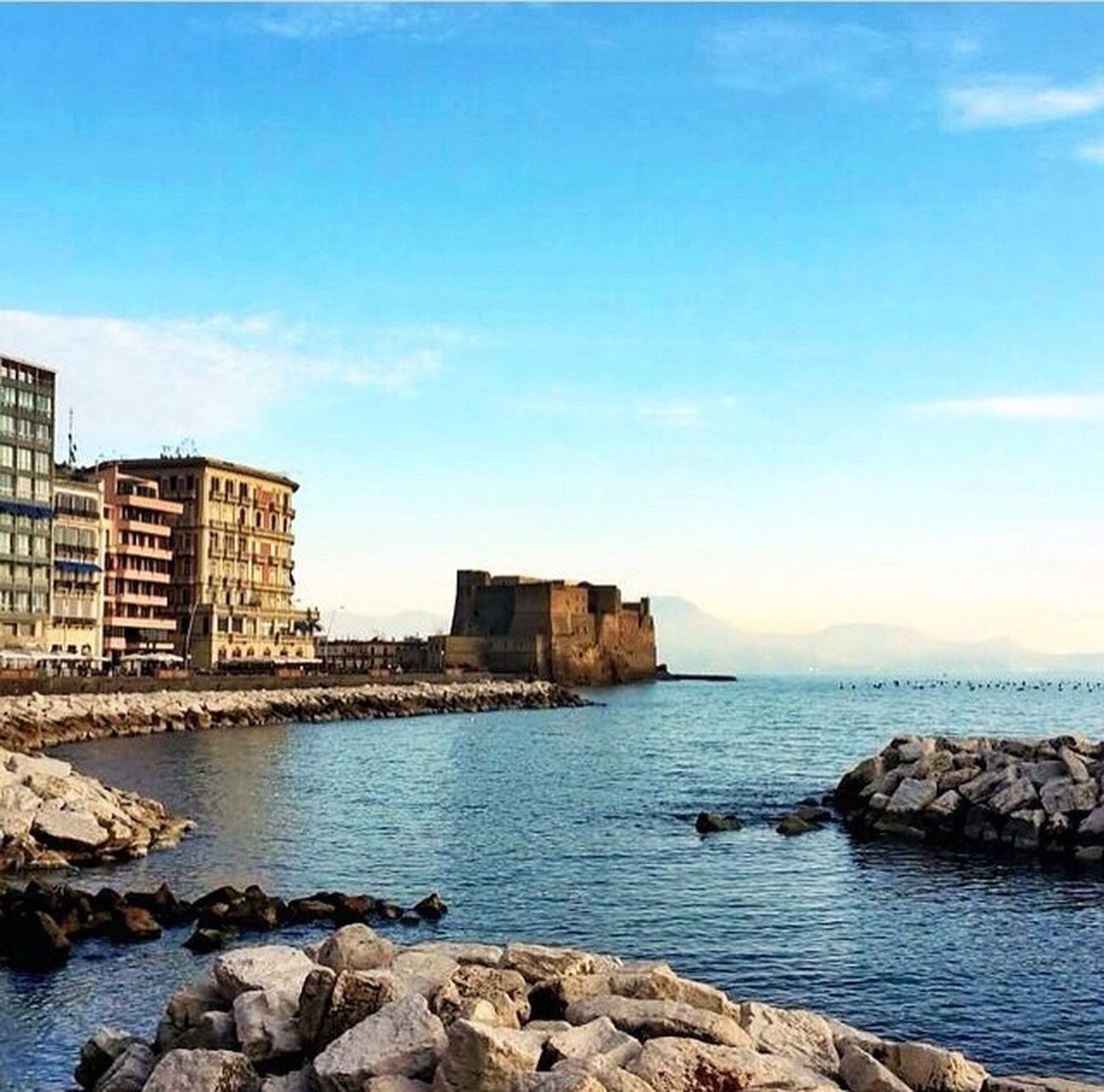 Napoli Mare Sea Castle Italy Mergellina Naples なポリ 海 卵城
