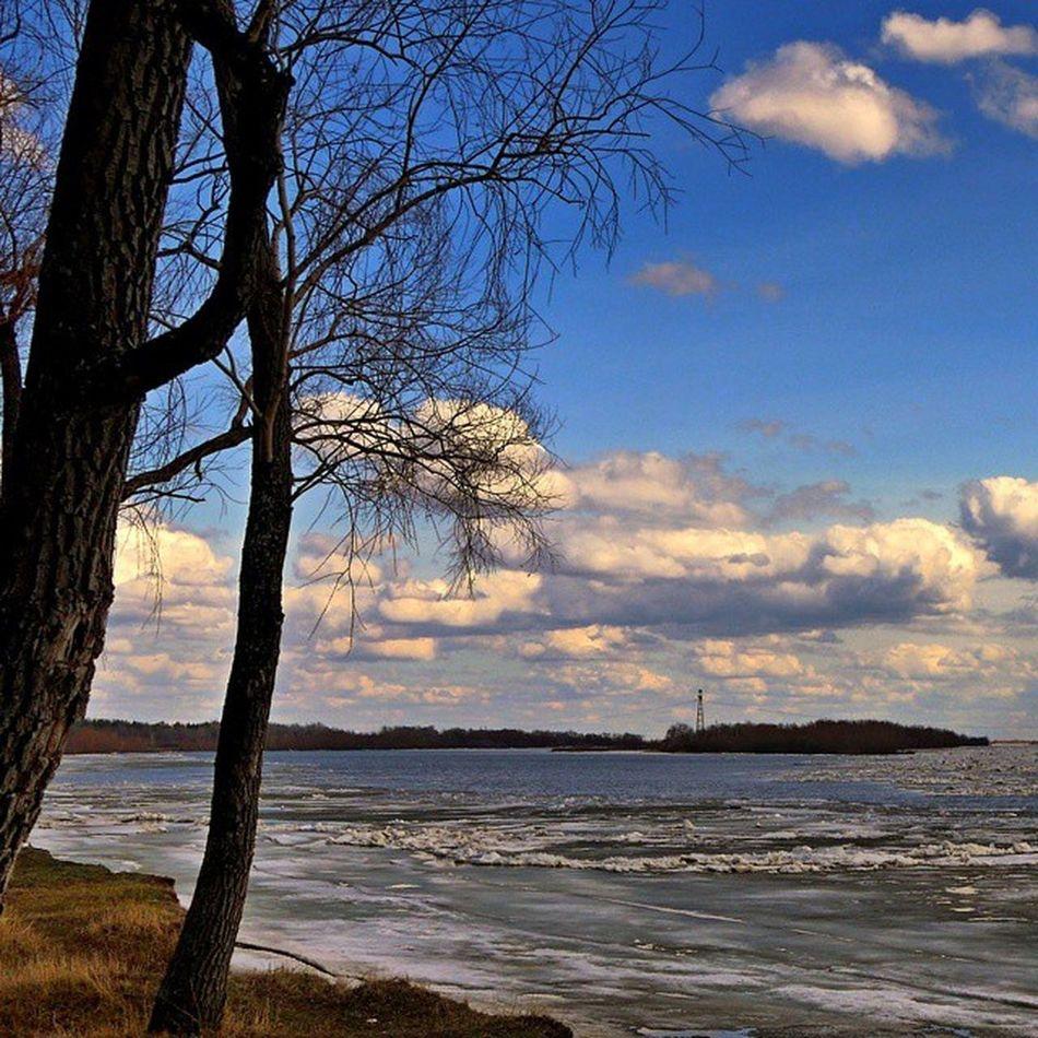 Omsk Siberia Irtysh River Skyseacloudes Clouds Spring Debacle омск сибирь Иртыш река ледоход весна лед небомореоблака