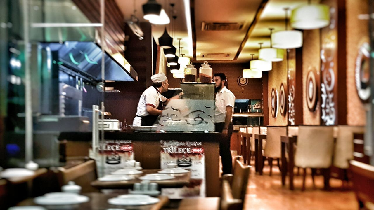 The Street Photographer - 2016 EyeEm Awards Izmirlife Izmir Alsancak Kordon Restaurants Waiter Chefs Closing Time Night Out Focus