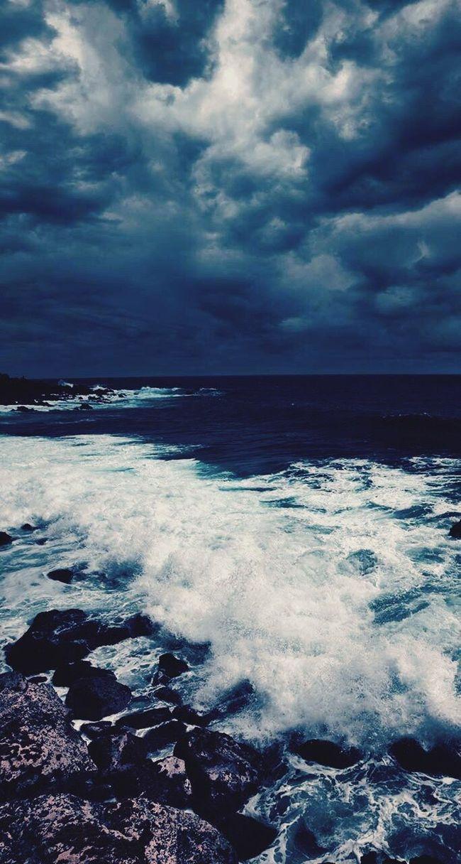 Sea Horizon Over Water Water Surf Scenics Wave Tranquil Scene Blue Sky Tranquility Cloud - Sky Weather Cloudscape Nature Seascape Cloud Idyllic Majestic Cloudy