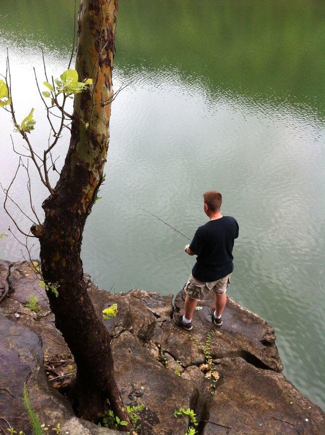 Pete fishing