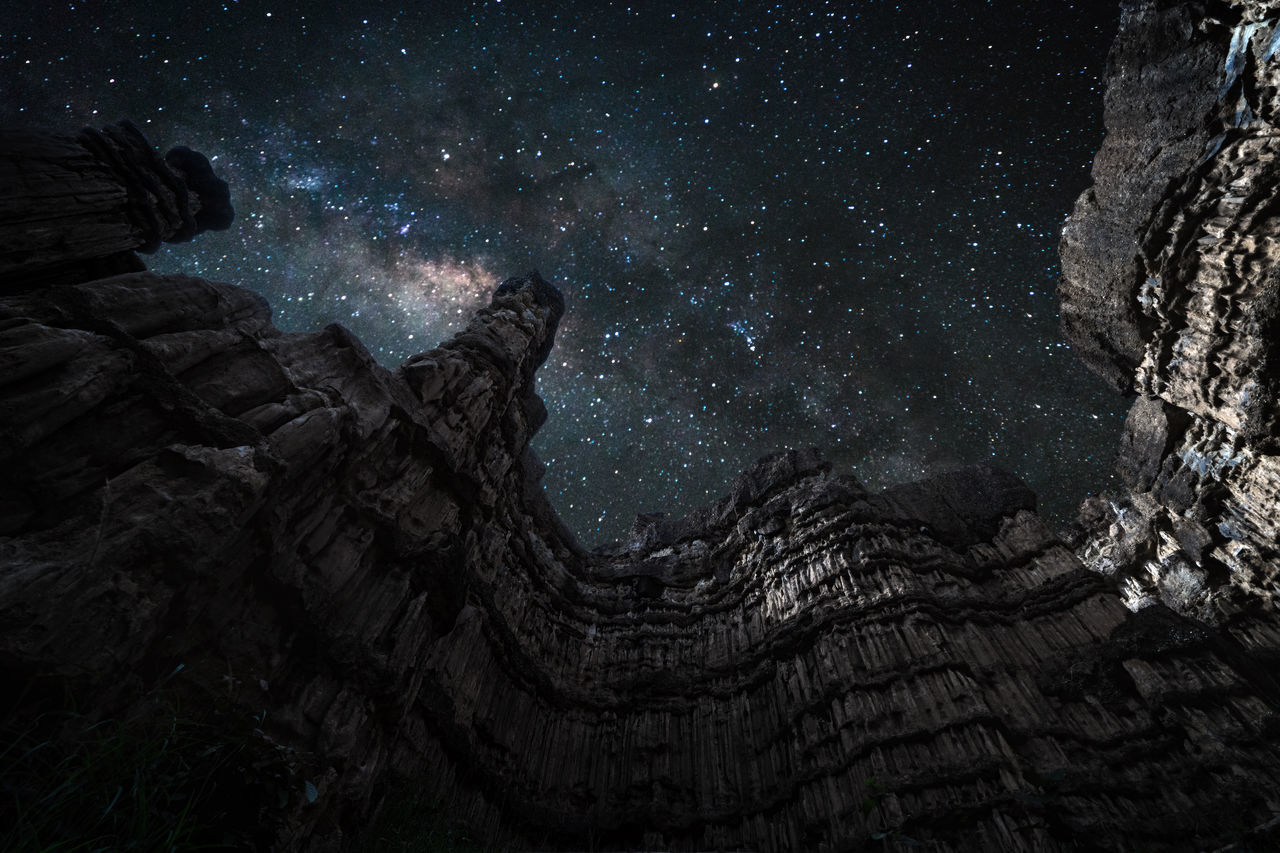 Milky way over Power of Nature Astronomy Beauty In Nature Galaxy Great Outdoors-EyeEm Awards 2017 Landscape Milky Way Mountain Mountain Peak Nature Night No People Outdoors Power Of Nature Scenics Sky Space Star - Space Star Trail Tree