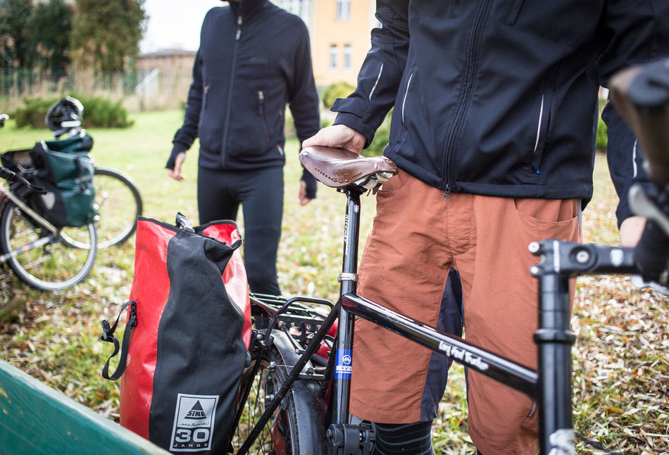 On the road with Ortlieb Adult Bicycle Bike Tour Brooks Brookssaddles City Day Fahrrad Fahrradtasche Fahrradtour Men On The Road Only Men Outdoor Outdoor Photography Outdoors Pannier Bags People Saddle Tour