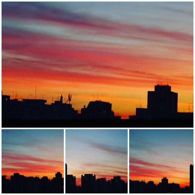 SAO PAULO BRAZIL AUTUMN Architecture Beauty In Nature Built Structure City City Cityscape Cloud Cloud - Sky Dark Dramatic Sky EyeEm Team Moody Sky Nature No People Orange Color Outdoors Outline Romantic Sky Scenics Silhouette Sky Skyline Sun Sunset Urban