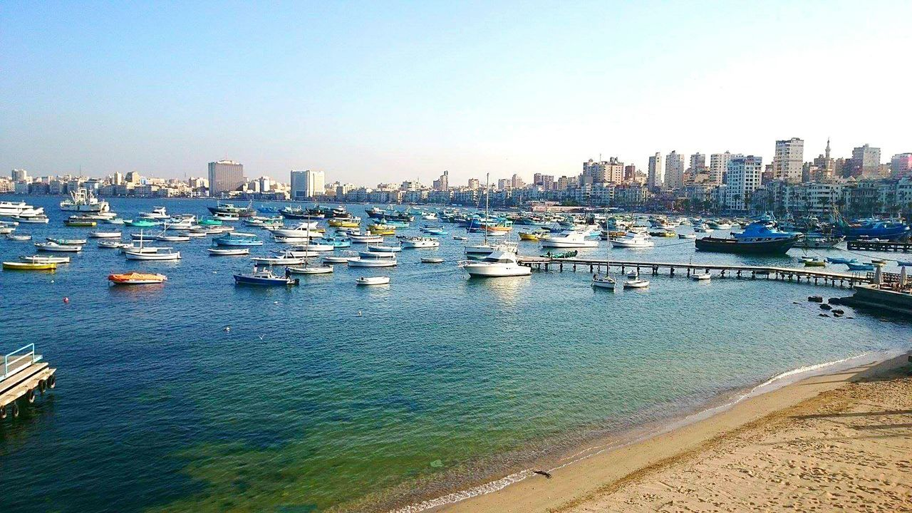 Travel Photography Enjoying Life Hanging Out Seaside My Point Of View Alexandria Egypt Relaxing Sea View Amazing Place Tourist Attraction  Check This Out Beauty Egypt Boats⛵️ Travelegypt Eyeem Travel Boats And Sea Blue Water Beach Day