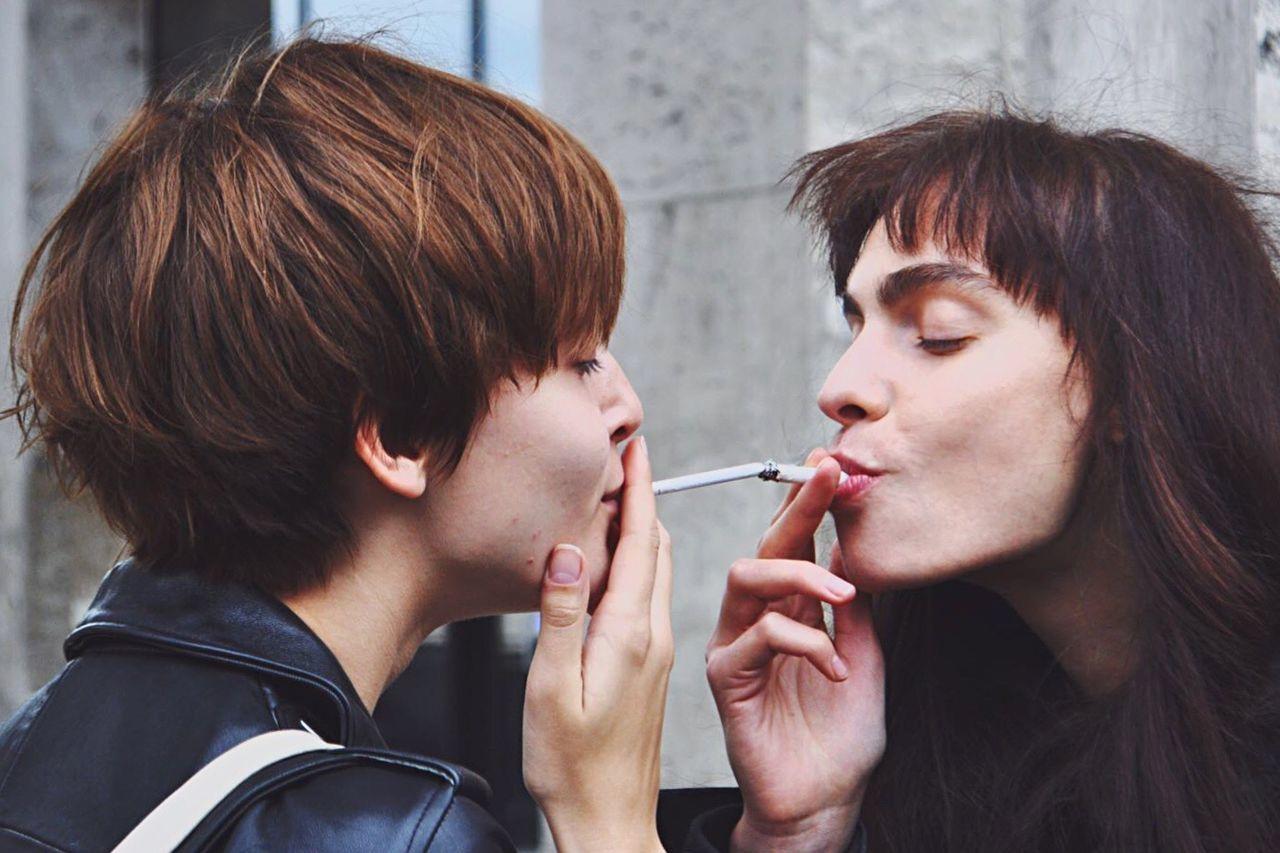 Love Two People Women People Togetherness Fashion Mode Street Photography Streetphotography Fashionweek Portrait Smoking Love Share