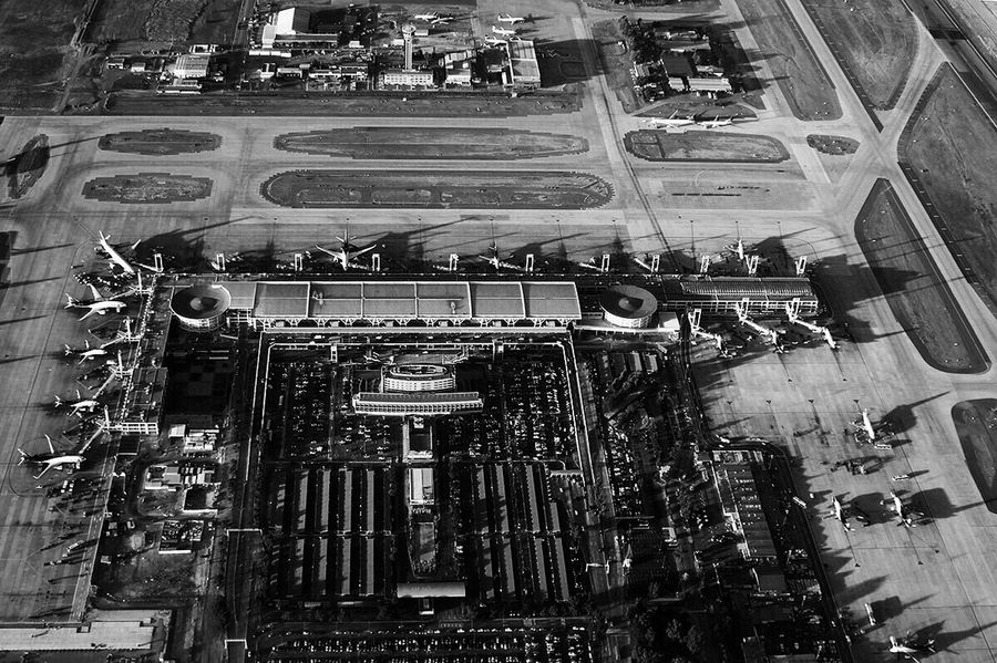 SCL Airport Airport Plane Chile Santiago Flying Cessna Blackandwhite Black And White Airbone Vacation Time