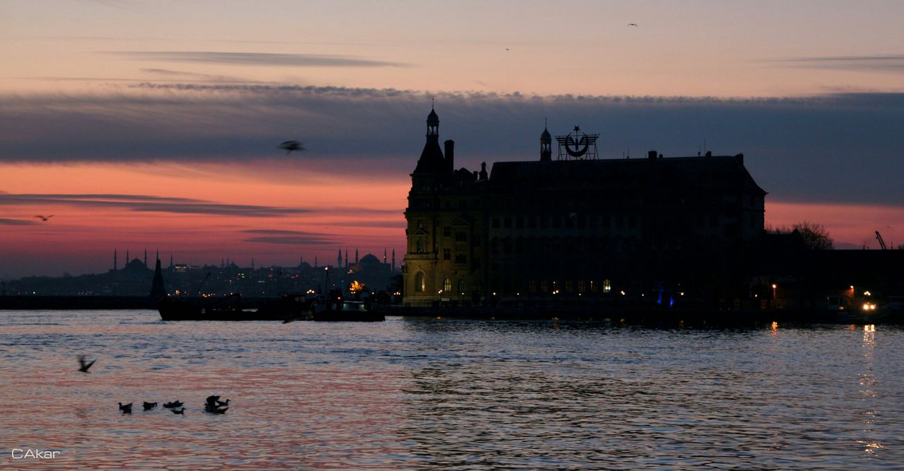 Historical Haydarpasa Terminal, İstanbul Haydarpasa Terminal İstanbul İstanbul Sea Sunset Sky Cloud Silhouette EyeEm Best Shots First Eyeem Photo Hello World Hi!