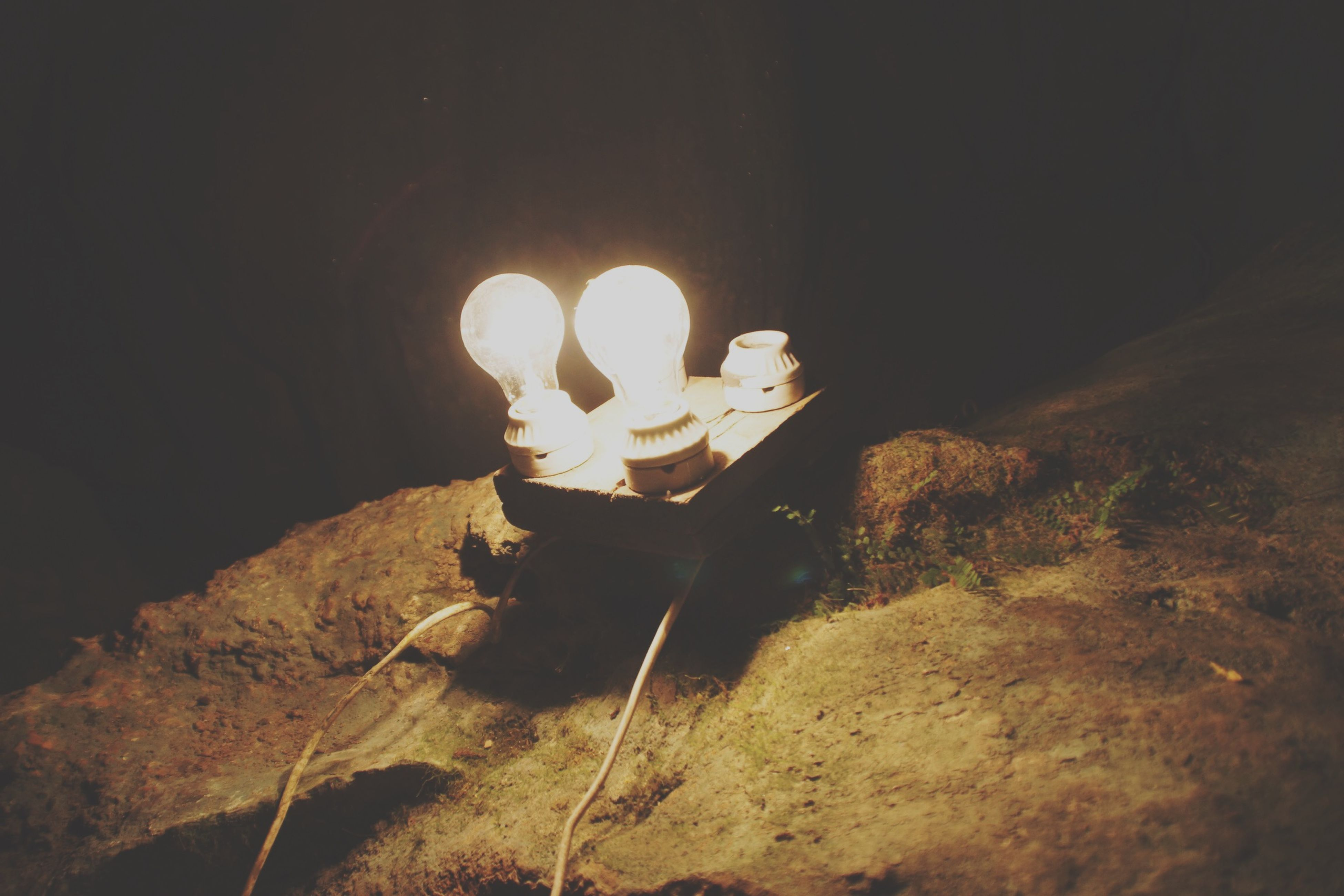 Light Up Cave Light Laos Cavejung Wangvien Dark
