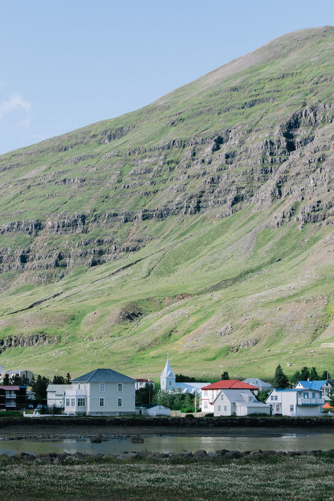 Agriculture Architecture Building Exterior Built Structure Day Dirt Road East Fjords Farm Field Green Color Horizon Over Land House Iceland Iceland_collection Landscape Mountain Nature Outdoors Rural Scene Scenics Seyðisfjörður Sky Tranquil Scene Tranquility Wide Shot