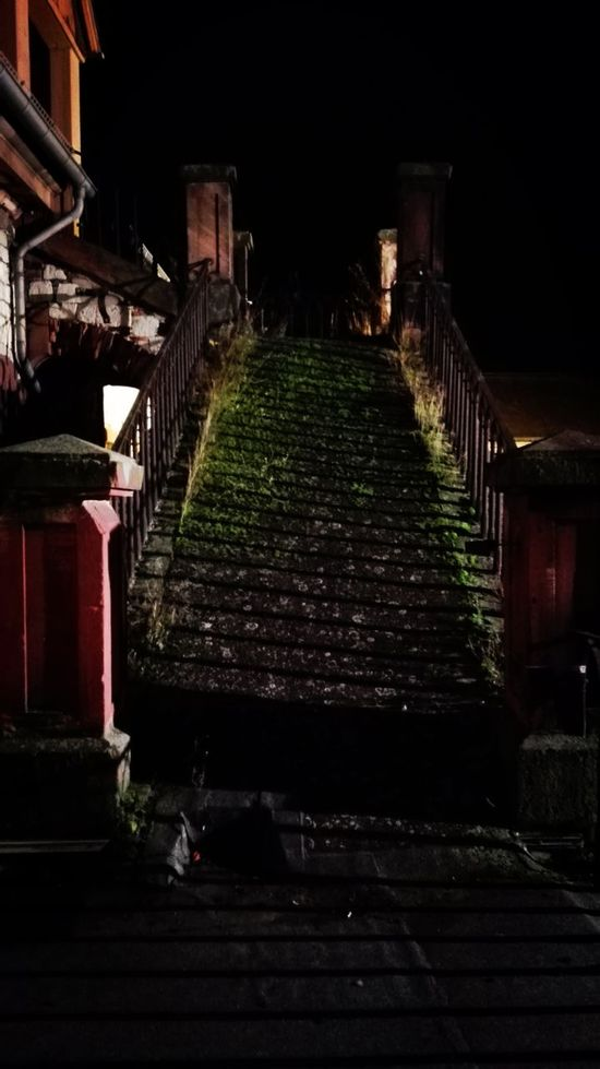 Illuminated Dachboden Reduit Hof 2016 The Way Forward Steps And Staircases Architecture No People Outdoors