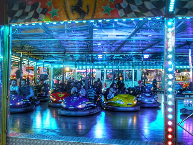 feeling blue... People Watching Hdr_lovers Dusk Hdr_Collection HDR Hdr Edit Night Photography Dodgems Fairground Rides Mirrorless Panasonic Lumix In The Park Fairground Colour PhotographyFairground Attraction HDR Streetphotography Street Photography Dodgem Cars Check This Out