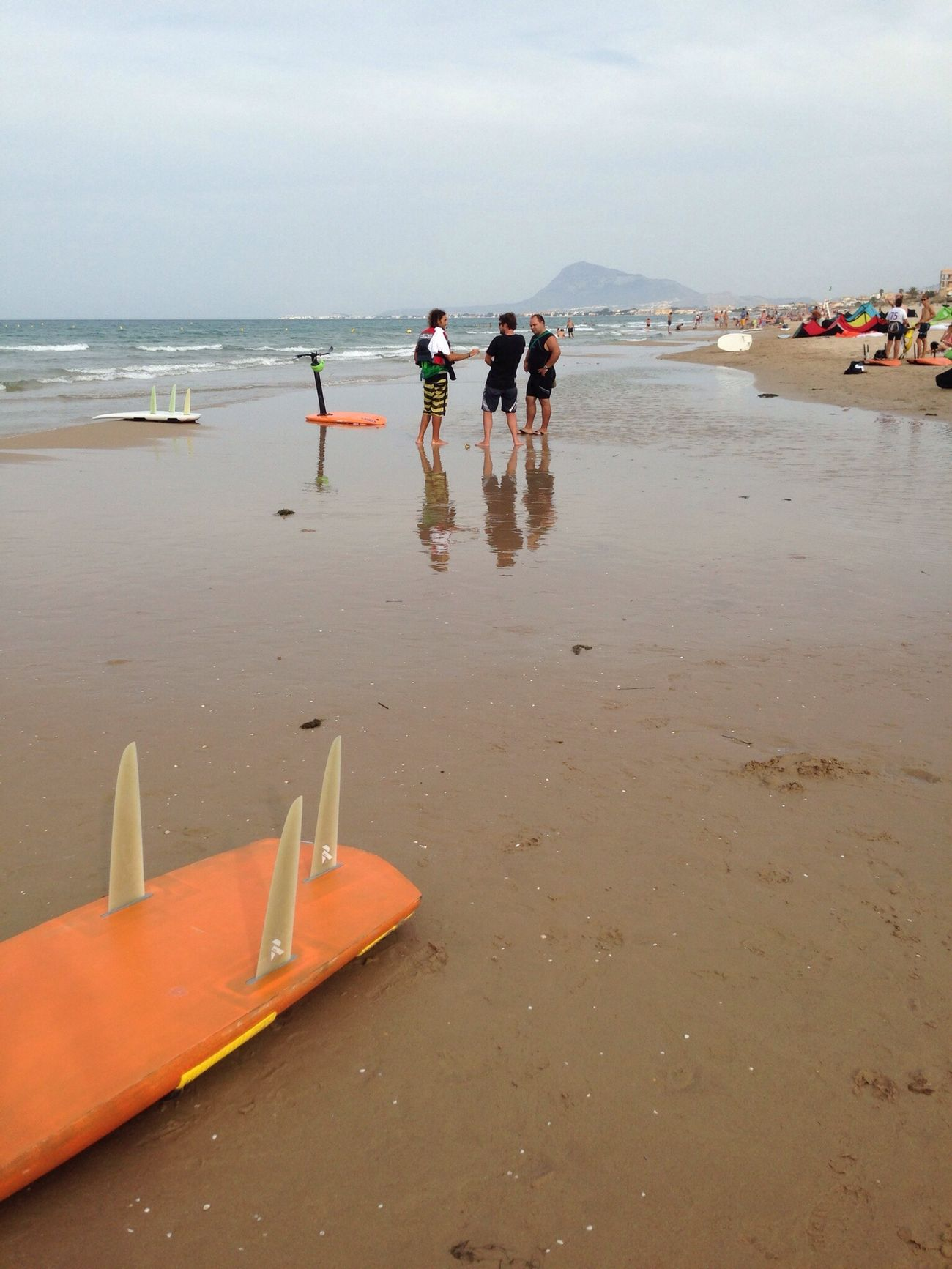Surfing Denia Mobile Photography Flying A Kite