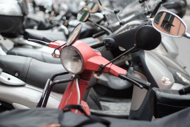 Red Vespa Scooter in Italy EyeEm Best Edits EyeEm Best Shots EyeEm Italy Focus On Foreground Genoa Italia Italian Motorcycles Red Scooter Selective Focus Vespa