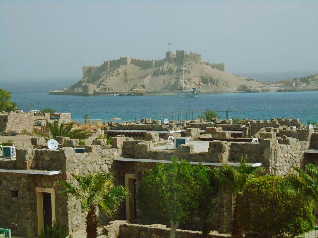 Salah_aldeen_castle Salah_Aldeen_Cidatel Taba  Sea Bluesea Houses Small Houses Blue Castle Citadel Historical Building History Water Outdoors Travel Destinations Fort