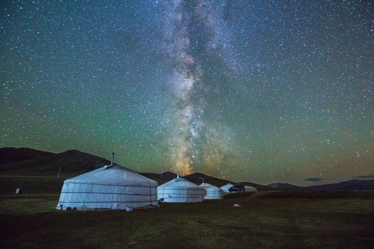 Star Field EyeEm Best Shots Star - Space Night Camping Astronomy Landscape Nature Beauty In Nature Wilderness Nightphotography Travel Destinations Mongolia Mongolia Yurt Outdoors