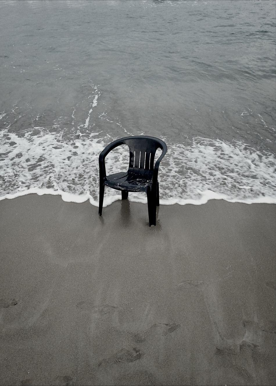 Beautiful stock photos of black, Absence, Beach, Black, Chair