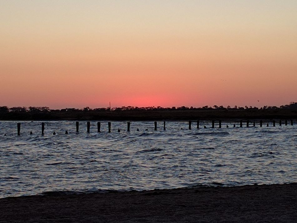 Sunset over dock Landscape Beauty In Nature Sky Water Tranquility No People Delapidated Dock Sunset Outdoors scenic
