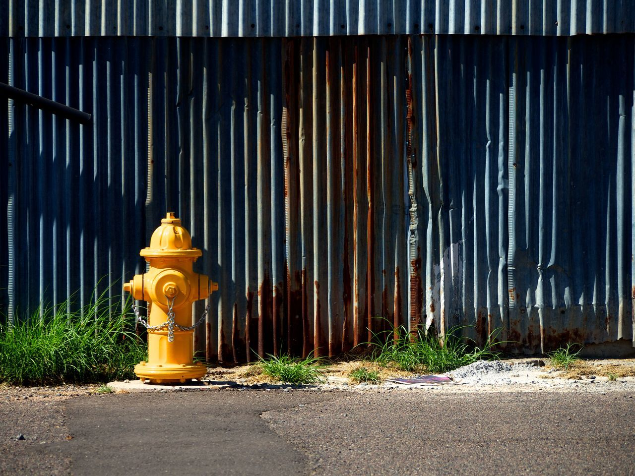 yellow, built structure, architecture, outdoors, no people, industry, building exterior, corrugated iron, day, city