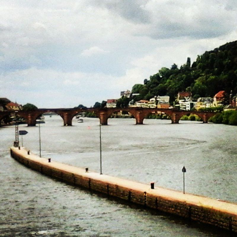 Alt Brück in Heidelberg. Heidelberg Germany Visit City Beautiful Tourism Sightseeing Sky Sun Bridge River Neckar Internship 2Months Adventure