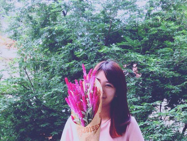 Flower power 💐💐💐 Portrait Flower Flowers, Nature And Beauty Vietnam Woman's Day Green Background Hidden Beauty Pink Lady