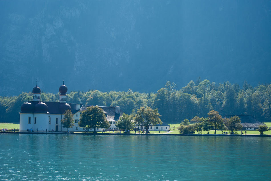 """""""Königssee"""" Waterfront Architecture Blue Outdoors Still Life First Eyeem Photo EyeEm Best Shots Hello World EyeEm Masterclass Eyeem Photo EyeEm Gallery Bayern Germany People Of The City Battle Of The Cities People And Places."""